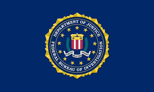 FBI logo on a blue background