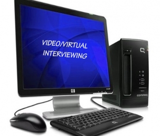 "computer with the words ""Video Virtual Imaging"""