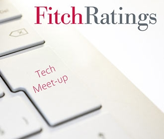 fitch ratings logo over layed on a keyboard